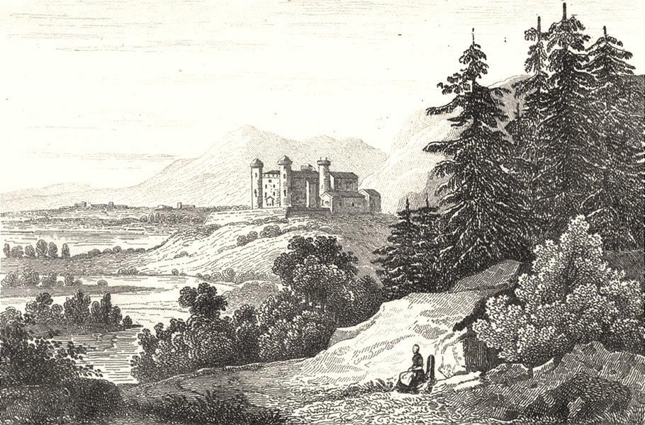 Associate Product ISÈRE. Chateau de Bayard 1835 old antique vintage print picture