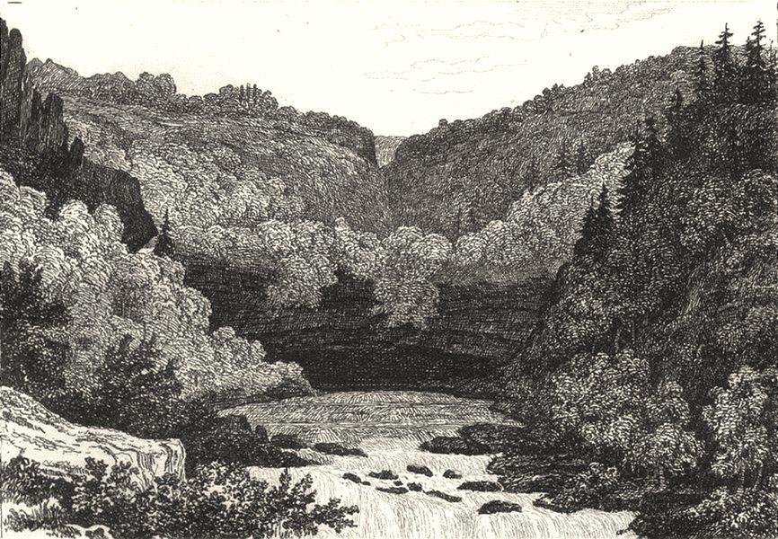 JURA. Source de l'Ain 1835 old antique vintage print picture