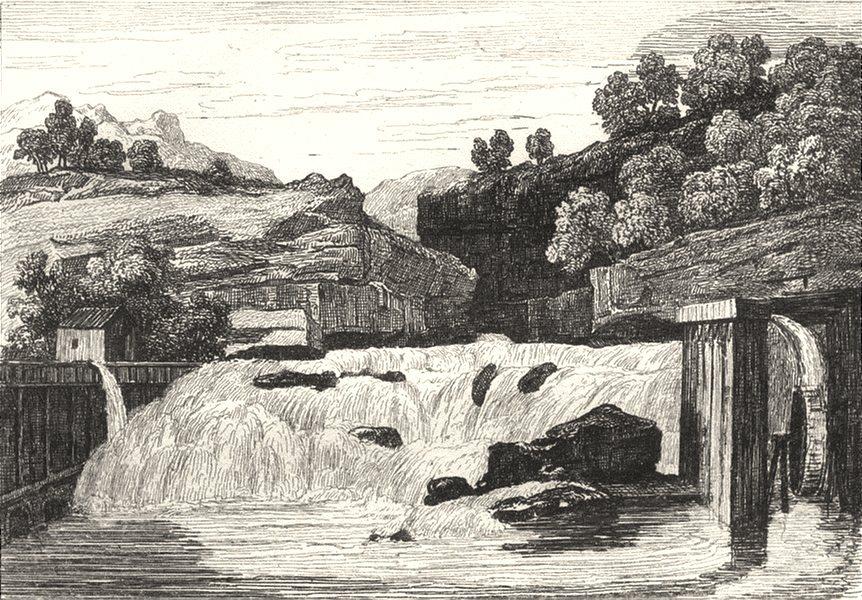 Associate Product JURA. Cascade des Forges de Syrod 1835 old antique vintage print picture