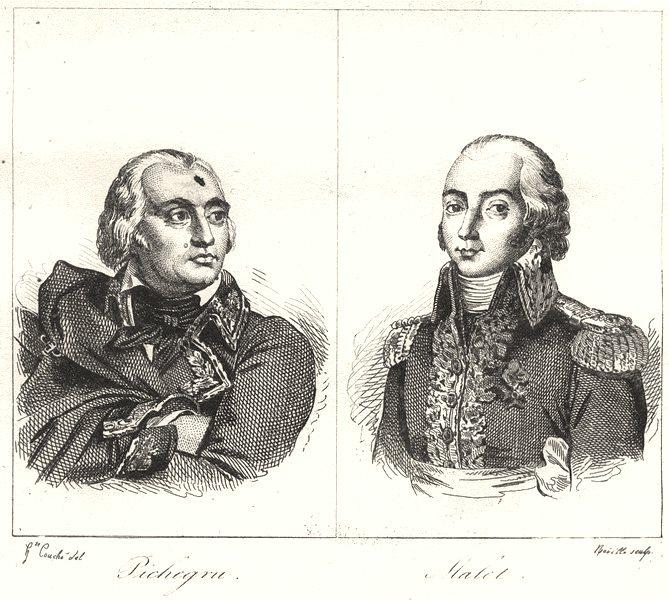 Associate Product JURA. Pichegru; Malet 1835 old antique vintage print picture