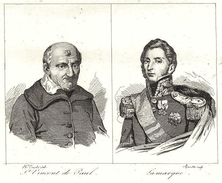 Associate Product LANDES. St Vincent de Paul; Lamarque 1835 old antique vintage print picture