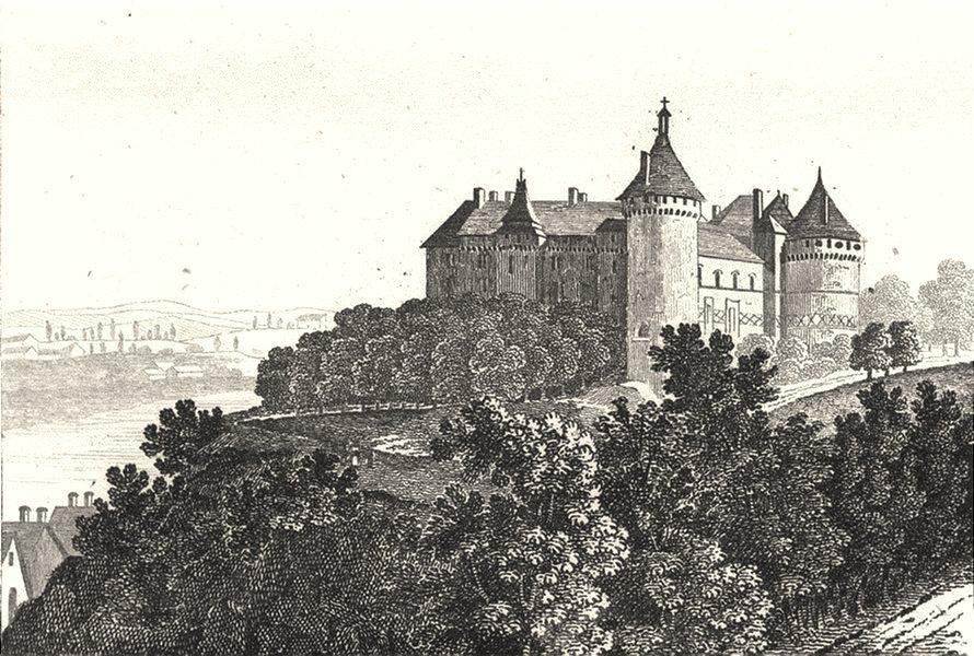 Associate Product LOIR-ET-CHER. Chateau de Chaumont 1835 old antique vintage print picture