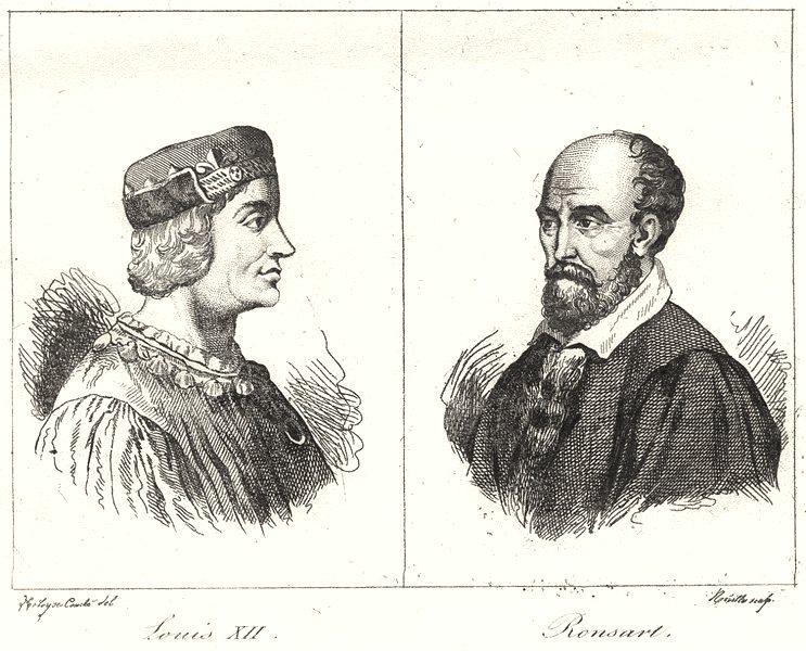 Associate Product LOIR-ET-CHER. Louis XII; Ronsart 1835 old antique vintage print picture
