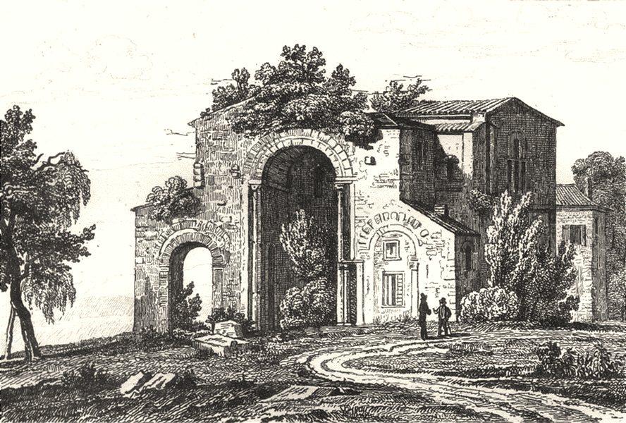 Associate Product LOIRE. Abbaye de Charlieu 1835 old antique vintage print picture