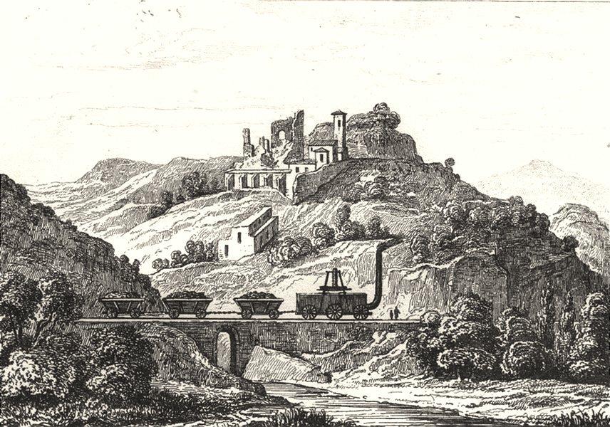 Associate Product LOIRE. Chemin de Fer 1835 old antique vintage print picture