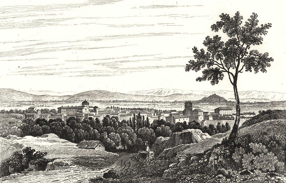 LOIRE. Montbrison 1835 old antique vintage print picture