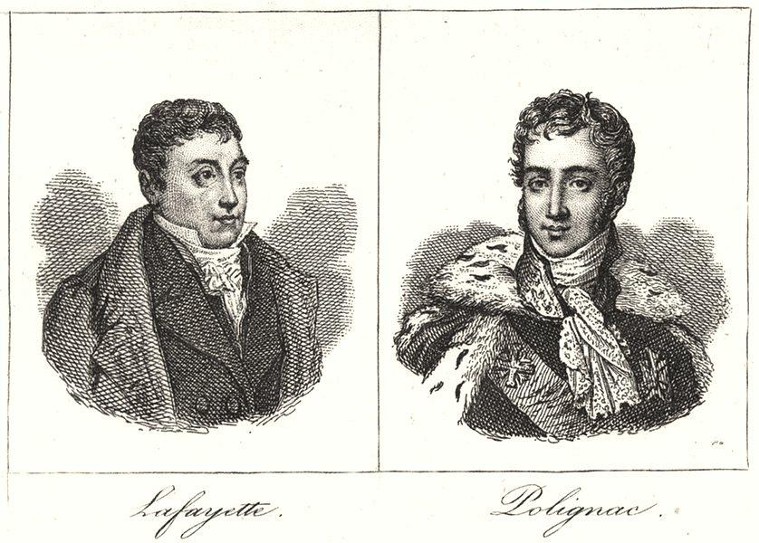 Associate Product HAUTE-LOIRE. Lafayette; Polignac 1835 old antique vintage print picture