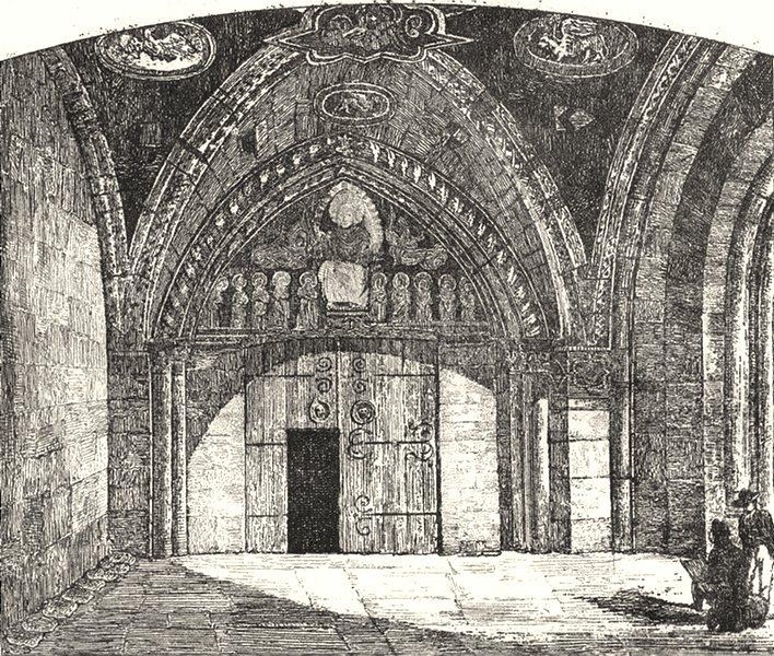 Associate Product HAUTE-LOIRE. Porche de Brioude 1835 old antique vintage print picture