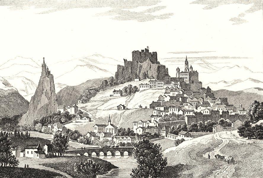 Associate Product HAUTE-LOIRE. Le Puy 1835 old antique vintage print picture
