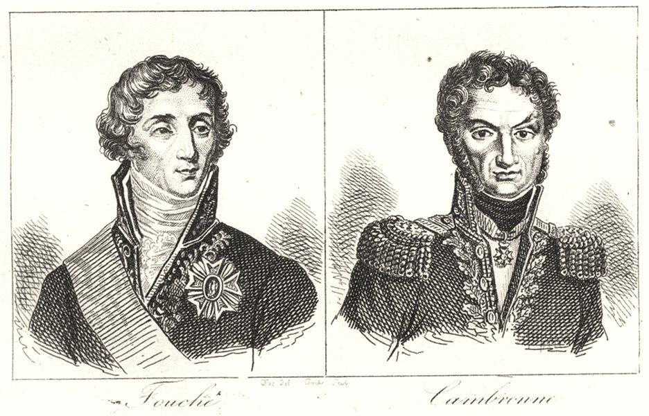 Associate Product LOIRE-ATLANTIQUE. Loire-Inférieure. Fouche; Cambronne 1835 old print