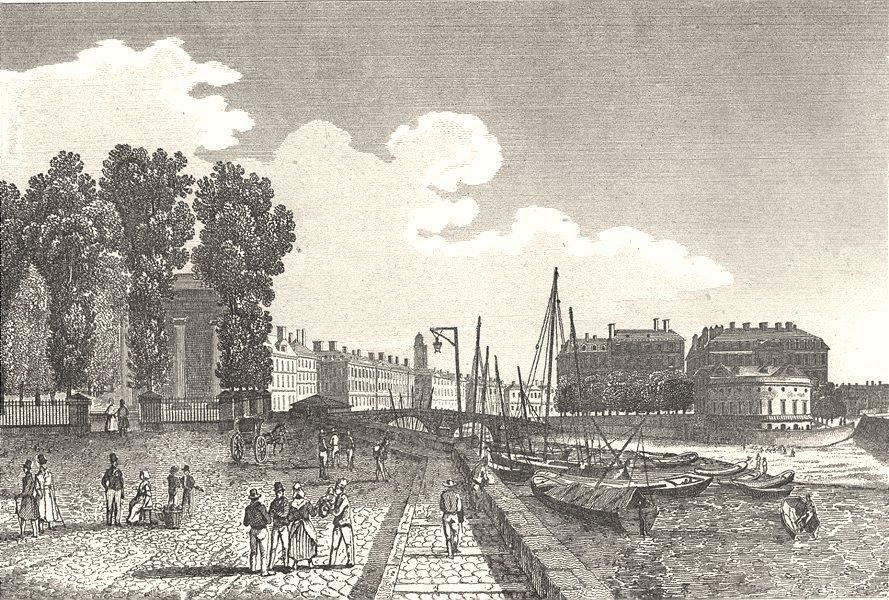 Associate Product LOIRE-ATLANTIQUE. Loire-Inférieure. Nantes (1)  1835 old print picture
