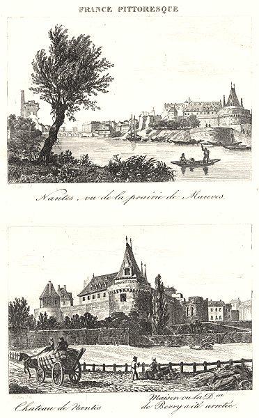 Associate Product LOIRE-ATLANTIQUE. Inférieure. Nantes, Prairie Mauves; Chateau; Dsse. Berry 1835