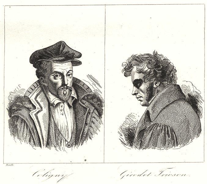 Associate Product LOIRET. Coligny; Girodet Trioson 1835 old antique vintage print picture