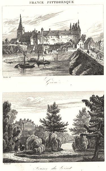 Associate Product LOIRET. Gien; Source du Loiret 1835 old antique vintage print picture