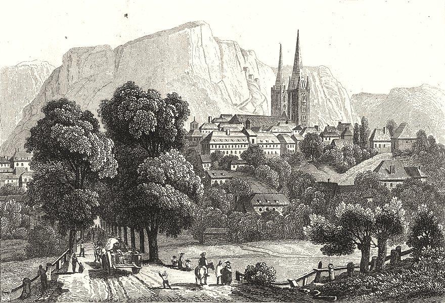 Associate Product LOZÈRE. Mende 1835 old antique vintage print picture