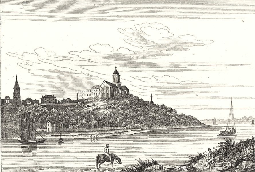Associate Product MAINE-ET-LOIRE. St. Florent 1835 old antique vintage print picture