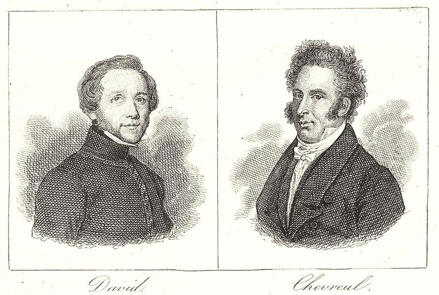 Associate Product MAINE-ET-LOIRE. David; Chevreul 1835 old antique vintage print picture