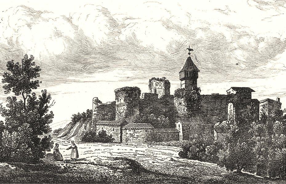 Associate Product MEURTHE-ET-MOSELLE. Château de Prény 1835 old antique vintage print picture