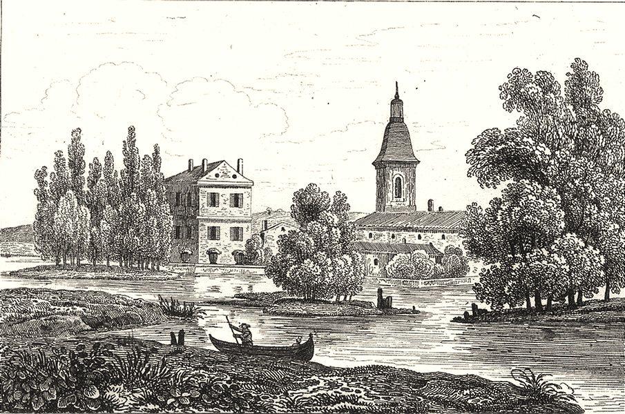 Associate Product MEUSE. St. Martin de Sorcy 1835 old antique vintage print picture