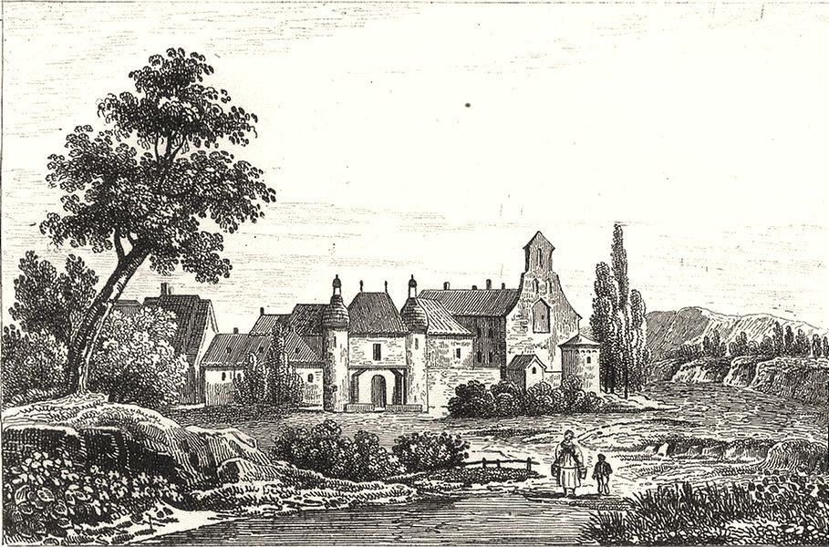 MEUSE. Ancienne Commanderie d'Harville 1835 old antique vintage print picture
