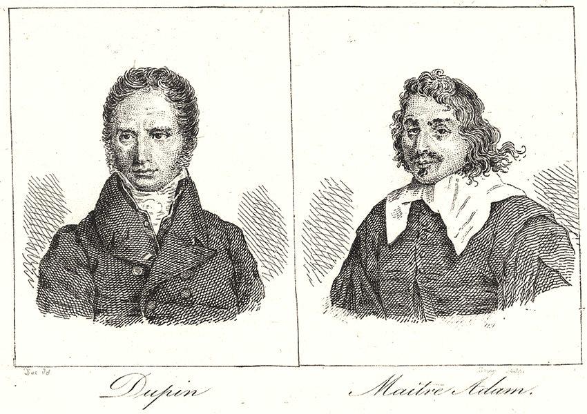 Associate Product NIÈVRE. Dupin; Maitre Adam 1835 old antique vintage print picture