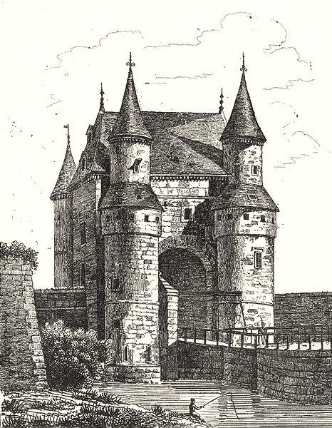 Associate Product NORD. Porte de Lille à Valenciennes 1835 old antique vintage print picture