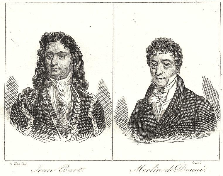 Associate Product NORD. Jean Bart; Merlin de Douai 1835 old antique vintage print picture