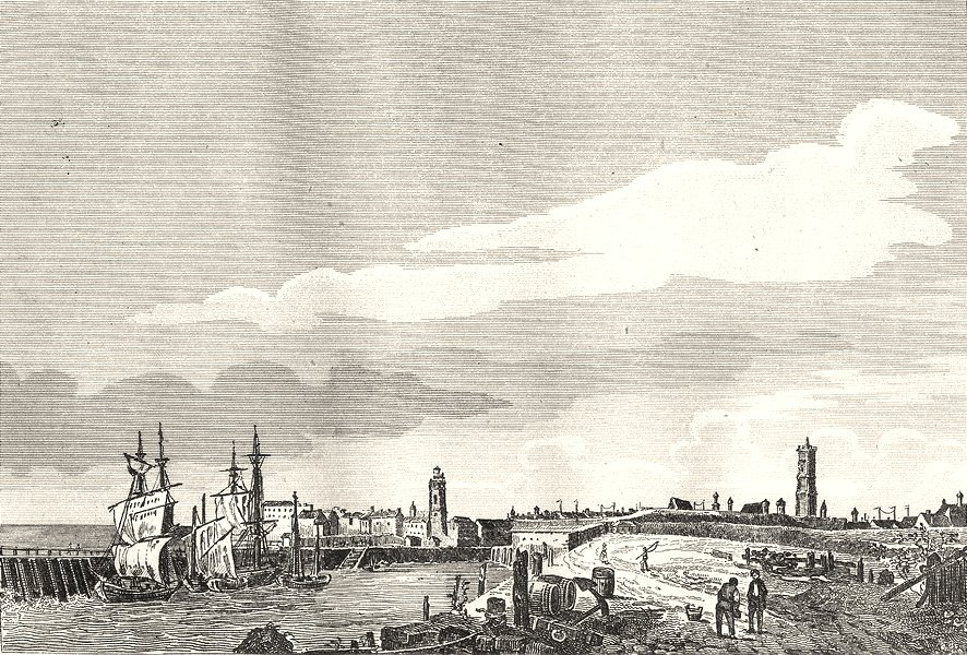 Associate Product NORD. Dunkerque 1835 old antique vintage print picture