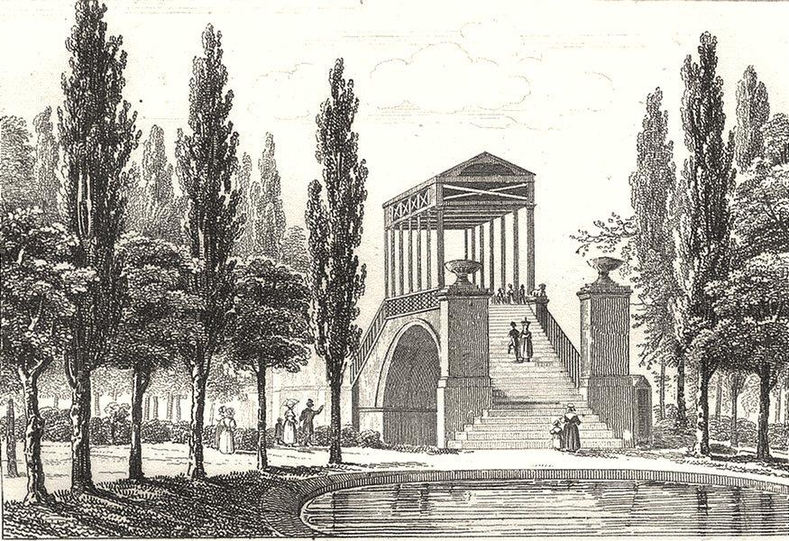 NORD. Lille. Pont Royal à Lille 1835 old antique vintage print picture