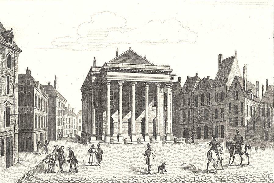 Associate Product NORD. Lille. Salle de Spectacle à Lille 1835 old antique vintage print picture