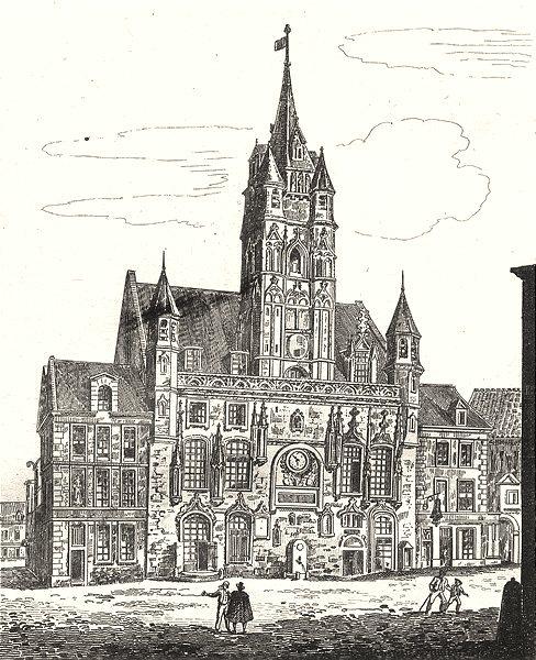 Associate Product OISE. Hôtel de Ville de Compiègne 1835 old antique vintage print picture