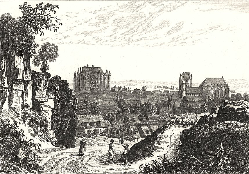 Associate Product OISE. Beauvais 1835 old antique vintage print picture