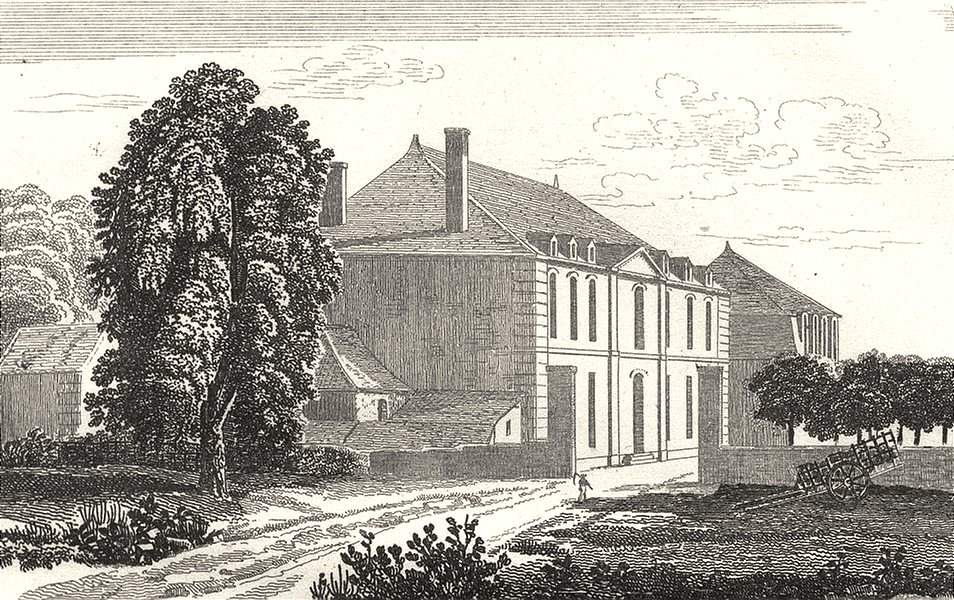 Associate Product ORNE. Les Forges, ancienne habitation de Catinat 1835 old antique print