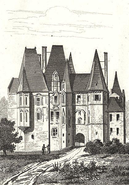 Associate Product ORNE. Chateau d'O près Seez 1835 old antique vintage print picture