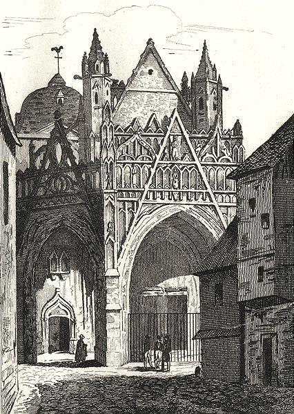 Associate Product ORNE. Notre Dame d'Alençon 1835 old antique vintage print picture
