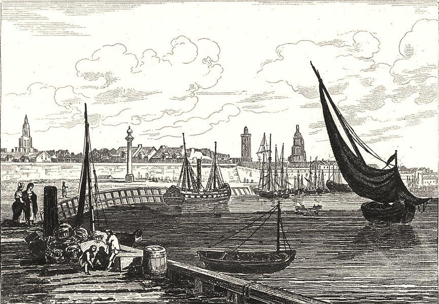 Associate Product PAS-DE-CALAIS. Calais 1835 old antique vintage print picture