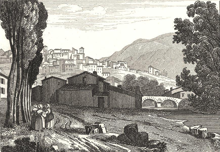 PUY-DE-DÔME. Thiers 1835 old antique vintage print picture