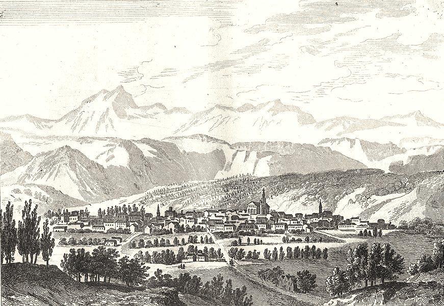 Associate Product HAUTE-LOIRE. Clermont 1835 old antique vintage print picture