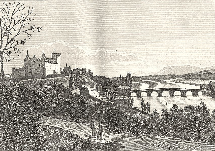Associate Product PYRÉNÉES-ATLANTIQUES. Basses-Pyrénées. Pau 1835 old print picture