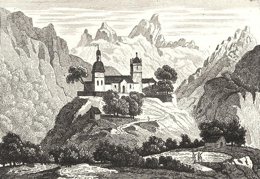 Associate Product HAUTES-PYRÉNÉES. Chapelle d'Arrens 1835 old antique vintage print picture
