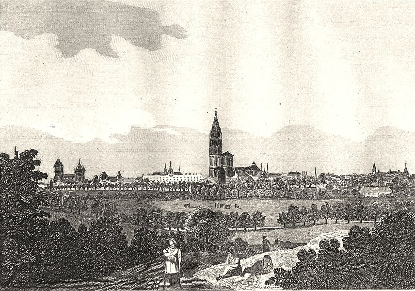 Associate Product BAS-RHIN. Strasbourg 1835 old antique vintage print picture