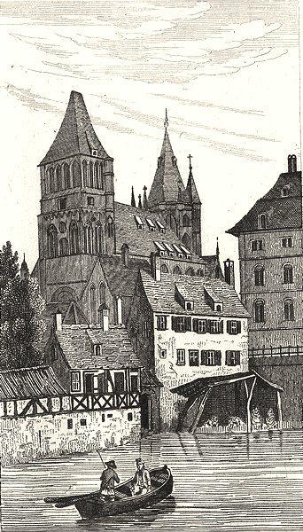 Associate Product BAS-RHIN. Eglise Saint Thomas 1835 old antique vintage print picture