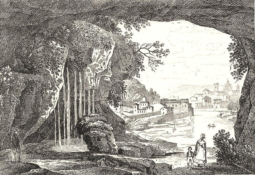 Associate Product RHÔNE. Grotte des Estrois 1835 old antique vintage print picture