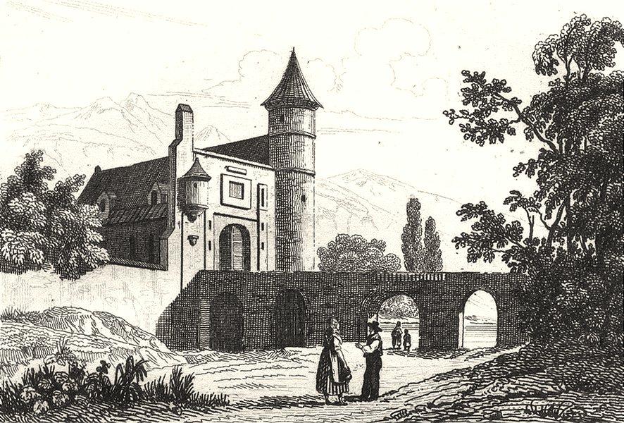 Associate Product HAUTE-SAÔNE. Chatean de Frasne 1835 old antique vintage print picture