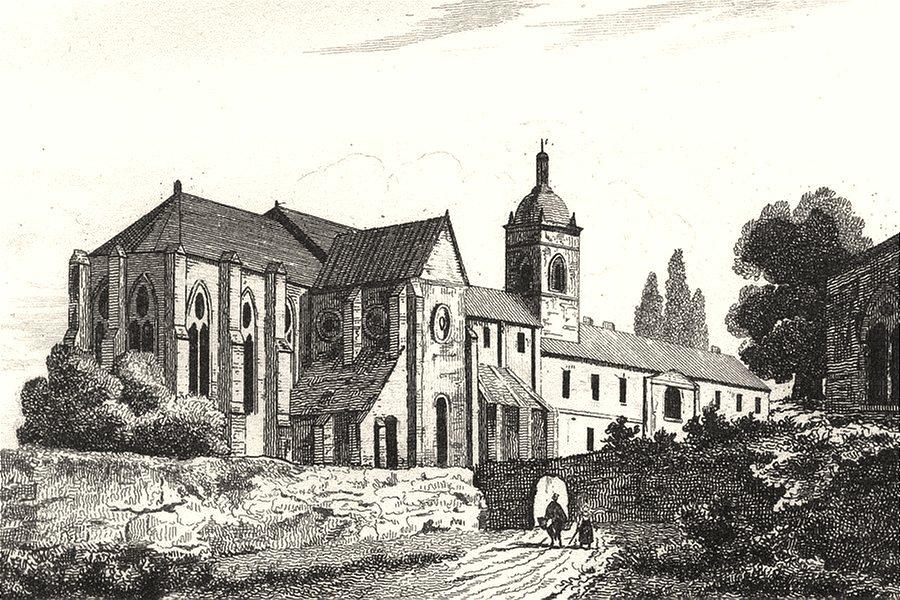 HAUTE-SAÔNE. Ancienne Abbaye de Luxeuil 1835 old antique vintage print picture