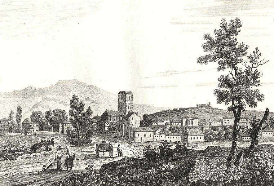 Associate Product HAUTE-SAÔNE. Vesoul 1835 old antique vintage print picture