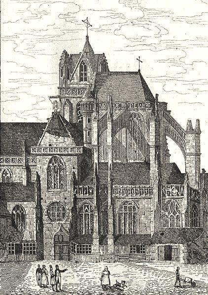 Associate Product SARTHE. Cathédrale de la Terte Bernard 1835 old antique vintage print picture