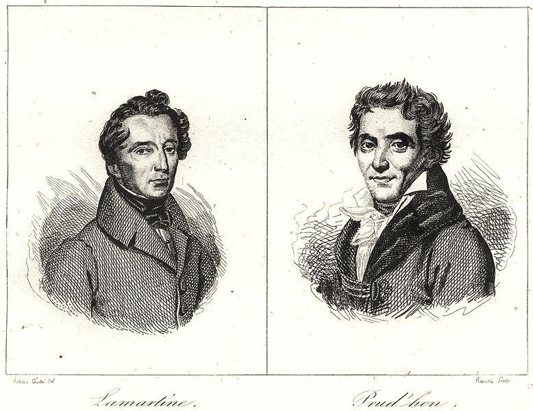 Associate Product SAÔNE-ET-LOIRE. Lamartine; Prud'hon 1835 old antique vintage print picture