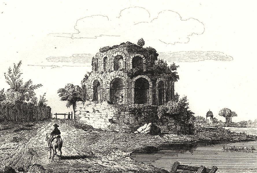 Associate Product SAÔNE-ET-LOIRE. Temple de Pluton 1835 old antique vintage print picture