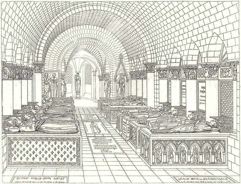 Associate Product PARIS. Eglise Souterraine des S. Denis 1835 old antique vintage print picture